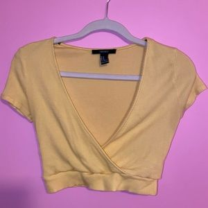 Yellow cropped top from forever 21
